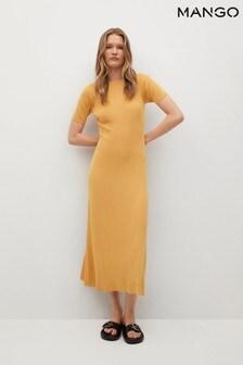 Mango Side Slit Knit Dress