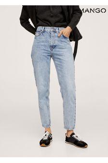 Mango 100% Cotton Mom Fit Jeans