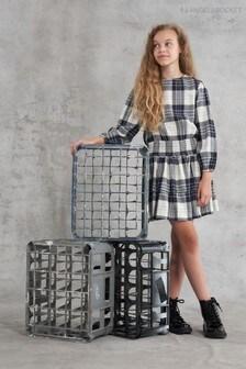 Angel & Rocket Amber Check Shirred  Dress