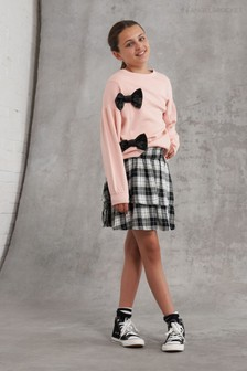 Angel & Rocket Autumn Check Shirred Skirt