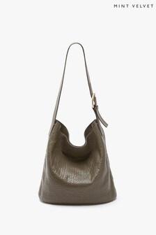 Mint Velvet Norah Khaki Shoulder Bag