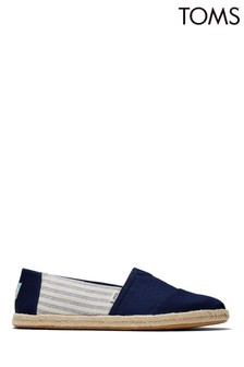 TOMS Alpargata Rope Navy University Straps Shoes
