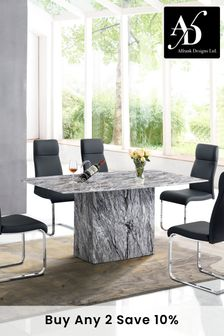 Novara 1.75m Marble Dining Table by Alfrank Designs