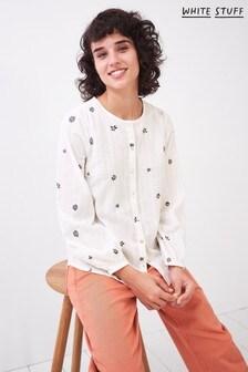 White Stuff Mia Embroidered Cotton Shirt