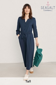 Seasalt Cornwall Blue Tall Sheltered Pass Jumpsuit