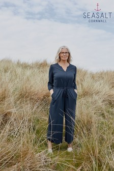 Seasalt Cornwall Blue Sheltered Pass Jumpsuit