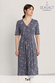 Seasalt Cornwall Tall Purple Carwynnen Dress