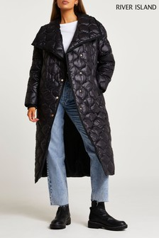 River Island Black Onion Quilt Padded Jacket