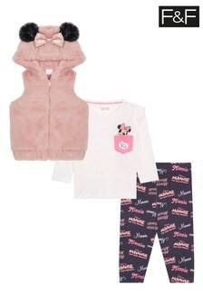F&F Pink Minnie Mouse Fur Gilet Set
