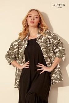 Sonder Studio Camo Studded Denim Jacket
