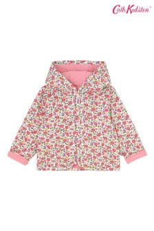 Cath Kidston Cream Pembridge Ditsy Baby Hooded Quilted Jacket