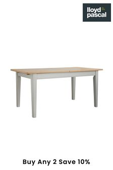 Kingston Rustic Pine and Grey Extending Dining Table By Lloyd Pascal