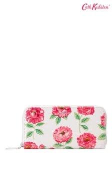 Cath Kidston Dahlia Cream Continental Zip Wallet