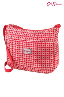 Cath Kidston Painted Check Small Red Foldaway Cross-Body Bag