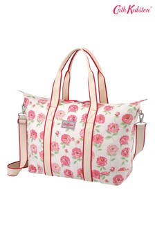 Cath Kidston Dahlia Cream Foldaway Overnight Bag