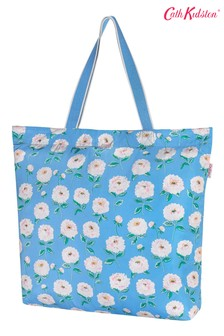 Cath Kidston Dahlia Blue Large Foldaway Tote Bag