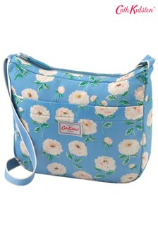 Cath Kidston Dahlia Blue Foldaway Cross-Body Bag