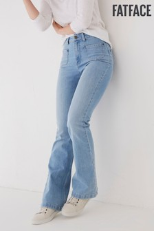 FatFace Blue Fly Flare Jeans