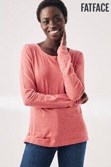 Fat Face Pink Katie Organic Cotton T-Shirt