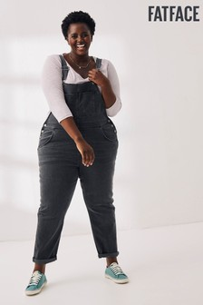 FatFace Grey Lewes Dungarees