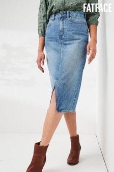 FatFace Faye Midi Denim Skirt