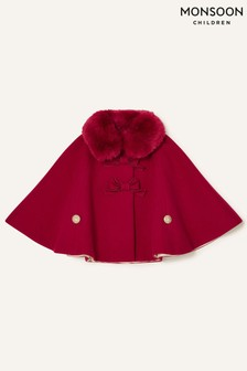 Monsoon Red Baby Bow Cape
