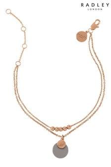 Radley Rose Gold Bead and Grey Resin Disc Bracelet