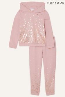 Monsoon Nude Foil Star Hoodie And Jogger Set