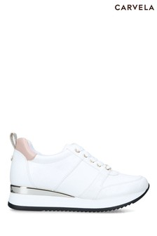 Carvela White Justified Trainers