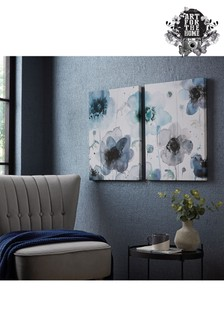Set of 2 Art For The Home Painterly Poppies Canvases