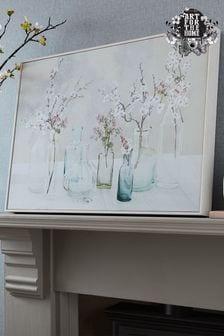 Art For The Home Apple Blossom Bottles Canvas