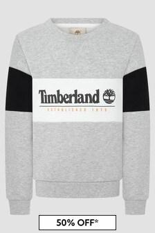 Timberland Boys Grey Sweat Top