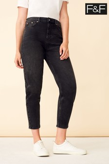 F&F Black Slim Mom Jeans
