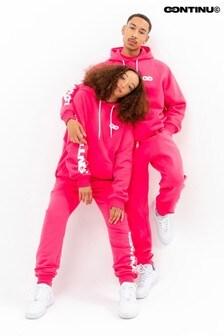 Continu8 Pink Oversized Hoodie
