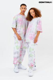 Continu8 Unisex Pink Tie Dye Joggers