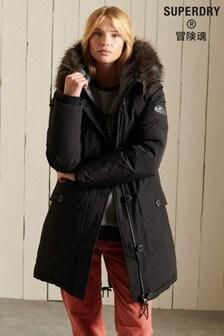 Superdry Black New Rookie Down Parka Jacket