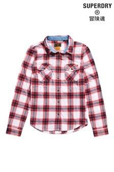 Superdry Womens Red Classic Lumberjack Shirt