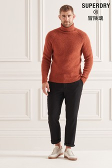 Superdry Red Studios Chunky Roll Neck Jumper
