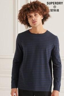 Superdry Studios Long Sleeve Heavy Weight Stripe Top