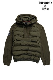 Superdry Green Expedition Storm Hybrid Hoodie