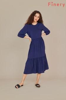 Finery Blue Alyssa Midi Dress