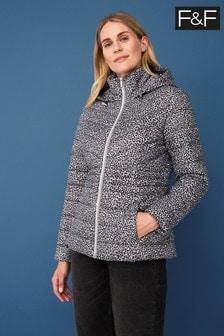 F&F Grey Short Padded Coat