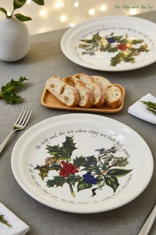 Portmeirion White Set of 6 Holly and Ivy 10'' Plates