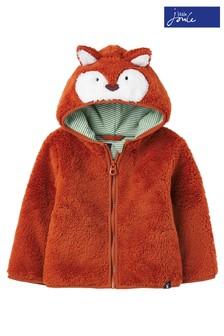 Joules Orange Cuddle Character Fleece Jacket