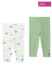Joules Green Hopwell Leggings Two Pack