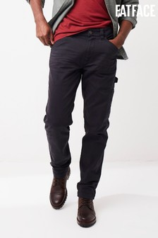 FatFace Mens Grey Straight Utility Trousers