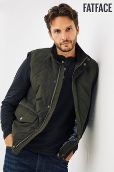 FatFace Green Hayle Quilted Gilet