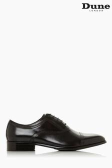Dune London Black Summers Wide Fit Stitch Detail Smart Shoes