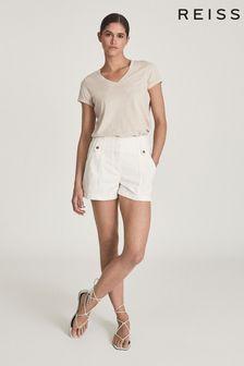 Reiss Luana Cotton-Jersey V-Neck T-Shirt