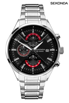 Sekonda Gents Silver Dual Time Watch